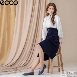 脚大有福 ECCO 爱步 Shape 型塑系列 浅口尖头低跟女式平底鞋 3.2折$44.89 海淘转运到手约¥408