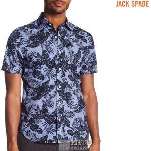 Jack Spade 杰克丝蓓 Clift 纯棉 男式印花短袖衬衫 XS码2.1折$24.66 海淘转运到手约¥215
