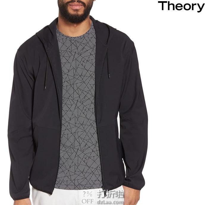 Theory 希尔瑞 Jacobson Neoteric 男式连帽休闲夹克 S码2.3折$128.71 海淘转运到手约¥938