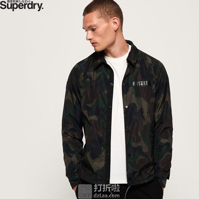 Superdry 极度干燥 Surplus Goods 迷彩男式夹克 3.1折$33.75 海淘转运到手约¥279