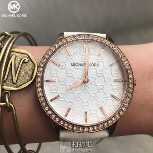 Michael Kors MK 迈克·科尔斯 MK2223 施华洛世奇水晶 女式时尚腕表 4.9折$78.98 海淘关税补贴转运到手约¥685