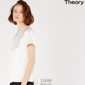 Theory 女式圆领短袖T恤 J1009507 S码2.8折$70.75 海淘转运到手约¥506 国内¥2800
