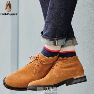 Hush Puppies 暇步士 Davis 男式系带短靴 41加宽码1.8折$22.8 海淘转运到手约¥252
