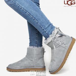 UGG Classic Lace Mini 系带女式时尚雪地靴 1103756 36码3折$53.71 海淘转运到手约¥465