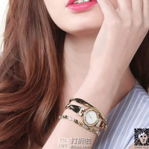金盒特价 Anne Klein 安妮克莱恩 AK 施华洛世奇水晶 女式手表手链套装 AK/1868GBST 3.3折$49.99 海淘转运关税补贴到手约¥477
