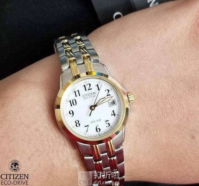 金盒特价 CITIZEN 西铁城 EW1544-53A 光动能 女式手表 3折$75.99 海淘转运关税补贴到手约¥659