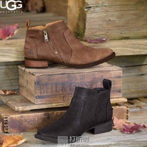 UGG  Aureo Ii 防水女式踝靴 4折$55.98 两色可选 海淘转运到手约¥481