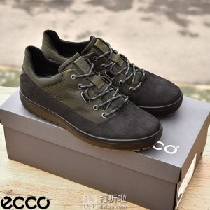 ECCO 爱步 Soft 7 柔酷7号 Tred Terrain 防水男式板鞋 39码3折$47.88 海淘转运到手约¥425