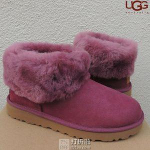 UGG Classic Mini Fluff 经典迷你毛茸款 雪地靴 时尚短靴 1106757 4.5折$68 两色可选 海淘转运到手约¥566