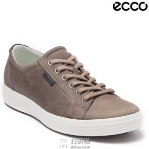 ECCO 爱步 Soft 7 City 柔酷7号 男式系带板鞋 休闲鞋 39码3.2折$35.54 海淘转运到手约¥339
