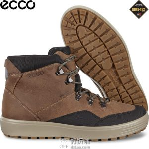 ECCO 爱步 Soft 7 柔酷7号 Tred Terrain GTX防水 男式中帮板鞋 3.7折$67.03海淘转运到手约¥560