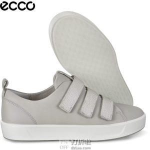 断码 ECCO 爱步 Soft 8 柔酷8号 魔术贴 女式平底休闲鞋 3.3折$59.93 海淘转运到手约¥510 41码更便宜