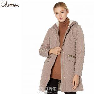 Cole Haan 可汗 中长款女式保暖棉服夹克 XS码2.7折$66.99 海淘转运到手约¥555