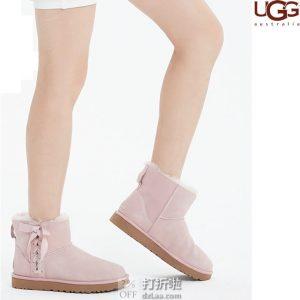 UGG Classic Lace Mini 系带女式时尚雪地靴 37码3.7折$66.75 海淘转运到手约¥559