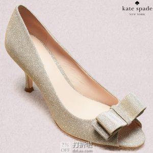 kate spade 凯特·丝蓓 Cecilia 缎面露趾高跟鞋 36码2.9折$65.72 海淘转运到手约¥556