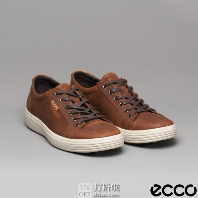 ECCO 爱步 SOFT 7 柔酷7号 男式休闲板鞋 3.5折$55.93 海淘转运到手约¥487