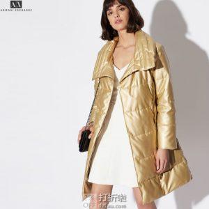 A|X Armani Exchange 阿玛尼 女式中长款保暖外套 M码3.3折$99.9 海淘转运到手约¥799