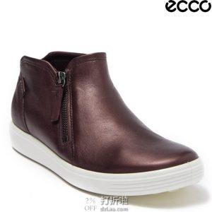 ECCO 爱步 SOFT 7 柔酷7号 侧拉链 女式短靴 36码3.8折$45.82 淘转运到手约¥390