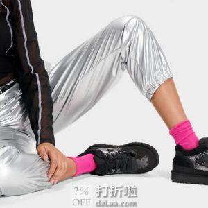 UGG HIGHLAND 女式时尚亮片运动鞋 1109631 4.3折$42.75 海淘转运到手约¥393