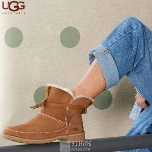 UGG 时尚绑带 女式羊毛保暖雪地靴 36码3.1折$48.87 海淘转运到手约¥466