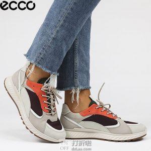 ECCO 爱步 ST.1 适动系列 撞色 运动女鞋 休闲鞋 4.3折$77.77 海淘转运到手约¥642