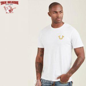 True Religion 真实信仰 纯棉 男式圆领T恤 2.5折$14.95 海淘转运到手约¥121