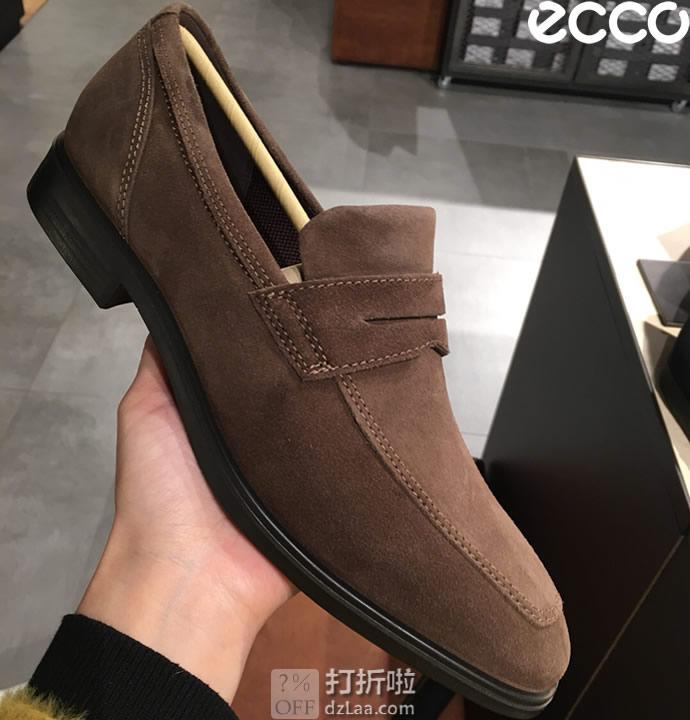 ECCO 爱步 Queenstown 男式乐福鞋 4.6折$46.56起 海淘转运到手¥396