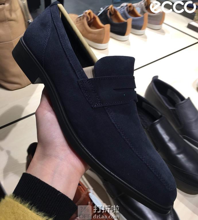 ECCO 爱步 Queenstown 男式乐福鞋 4.1折$41.3起 海淘转运到手¥379 三色多码可选