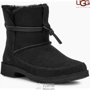 UGG 时尚绑带 女式羊毛保暖雪地靴 3.9折$62.91 海淘转运到手约¥563