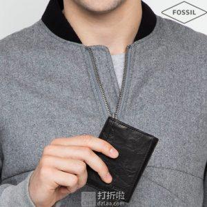 Fossil Fossil 化石 Neel  男式三折钱包 4折$19.2 两色可选 海淘转运到手约¥144