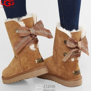 UGG Customizable Bailey Bow 贝莉蝴蝶结 女式雪地靴 36码3.2折$67.46 海淘转运到手约¥567