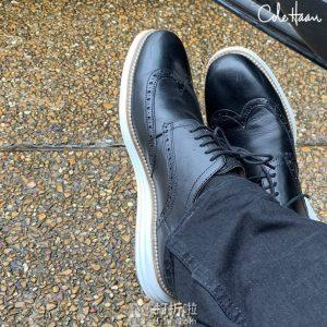 断码 Cole Haan 可汗 Original Grand Shortwing 布洛克风格 男式牛津鞋 正装鞋 3折$45 海淘转运到手约¥408