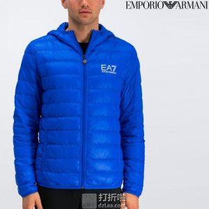 Emporio Armani 阿玛尼 EA7系列 轻薄可压缩 男式连帽羽绒服 S码3.2折$78.76 海淘转运到手约¥587