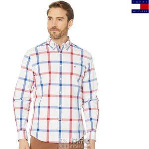Tommy Hilfiger 汤米希尔费格 男式格纹长袖衬衫 S码3.3折$23.36 海淘转运到手约¥180