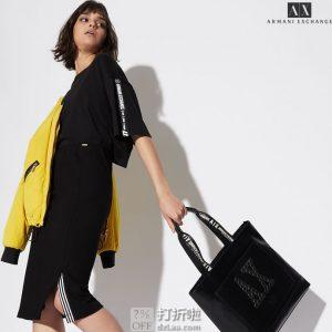 A|X Armani Exchange 阿玛尼 女式五分袖上衣 L码2.7折$23.67 海淘转运到手约¥185