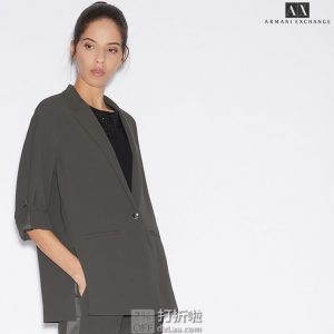 A|X Armani Exchange 阿玛尼 一粒扣 女式西装外套 6码3折$56.41 海淘转运到手约¥459