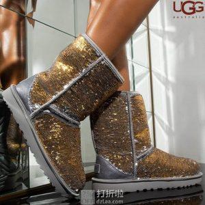 UGG Cosmos Sequin 经典 双色亮片 女式雪地靴 36码3.3折$61.79 海淘转运到手约¥529