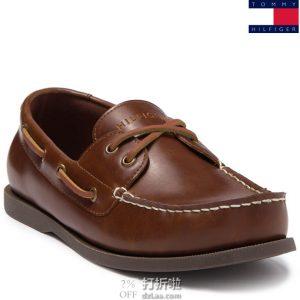 Tommy Hilfiger 汤美费格 Brazen3 人造革 男式船鞋 8码3折$20.95 海淘转运到手约¥238