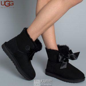 UGG Gita Bow Mini 吉塔 经典新奇系列 蝴蝶结迷你短靴 女式雪地靴 1098360 36码4.5折$76.48海淘转运到手约¥663