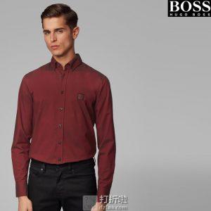 Hugo Boss 雨果博斯 Mabsoot 牛津纺 修身款 男式衬衫 M码3.5折$45.33 海淘转运到手约¥342
