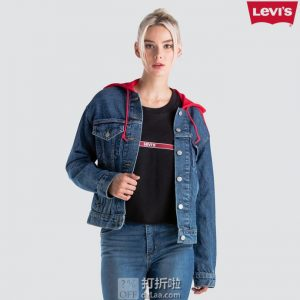 Levi's 李维斯 Ex-Boyfriend 男友风 撞色连帽女式牛仔夹克 S码3.2折$22.39 海淘转运到手约¥203