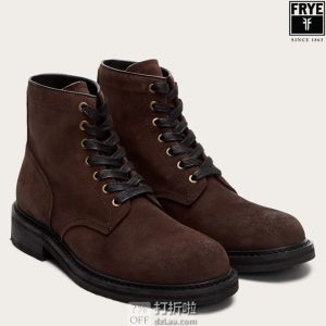 Frye and Co. 弗莱 Peak 男式工装靴 短靴 2.8折$42 海淘转运到手约¥418