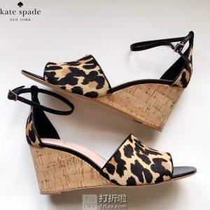 kate spade 凯特·丝蓓 Lonnie 豹纹坡跟女式凉鞋 36码3折$58.63 海淘转运到手约¥506