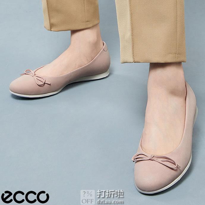 脚大有福 ECCO 爱步 TOUCH BALLERINA 2.0 触感2.0 蝴蝶结 女式平底鞋 41码2.1折$27.16 海淘转运到手约¥268
