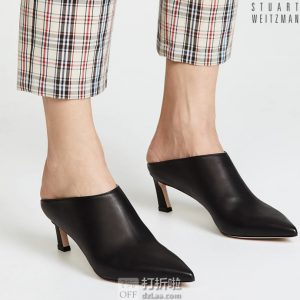 Stuart Weitzman 斯图尔特·韦茨曼 MIRA 女式尖头高跟穆勒鞋 凉拖鞋 36码1.7折$79.59 海淘转运到手¥655 天猫¥2640