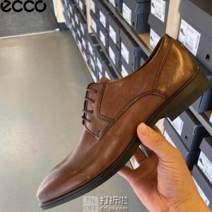 ECCO 爱步 Queenstown 男式系带正装鞋 牛津鞋 42码4.9折$48.75 海淘转运到手¥436