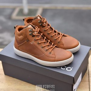 ECCO 爱步 柔酷7号 Tred 侧拉链男式高帮板鞋 休闲鞋 43码4.4折$79.15 海淘转运到手约¥607