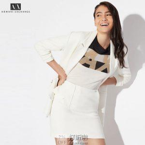A|X Armani Exchange 阿玛尼 女式迷你短裙 8码1.8折$23.36 海淘转运到手约¥184