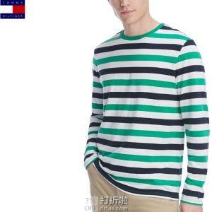 Tommy Hilfiger 汤米希尔费格 圆领男式长袖T恤 3.6折$14.22 海淘转运到手约¥125