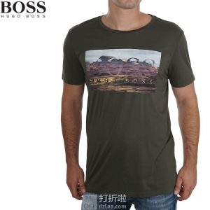 HUGO BOSS 雨果博斯 纯棉印花 短袖圆领 男式T恤 S码4.1折$38.87 海淘转运到手约¥292